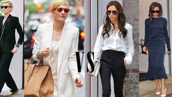 Modne stylizacje: biurowy look – Victoria Beckham vs Cate Blanchett