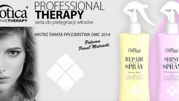 Nowe spraye do włosów z linii L'biotica PROFESSIONAL THERAPY