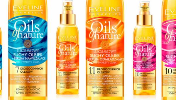 Suche olejki Eveline Cosmetics z serii Oils of nature
