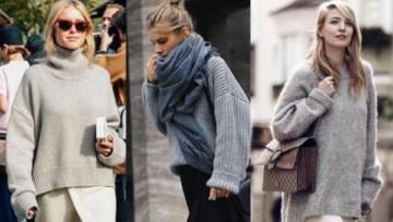 4 propozycje jak nosić oversizowe szare swetry