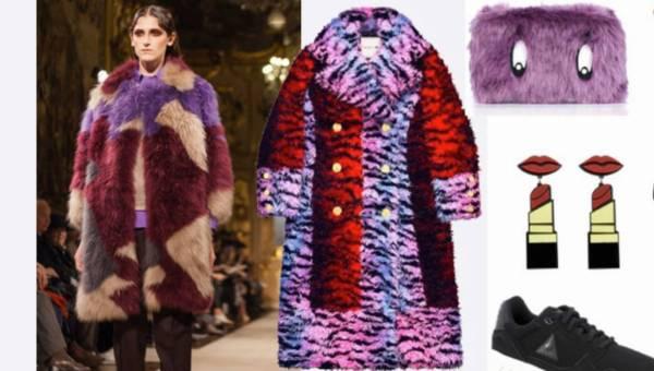 Kolorowe, sztuczne futerka zima 2016 – 2017 – 8 pomysłów stylizacyjnych