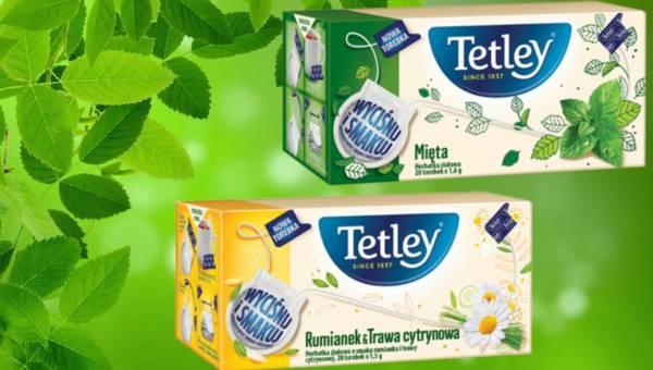 """Herbatki ziołowe Tetley w torebkach """"wyciśnij i smakuj"""""""