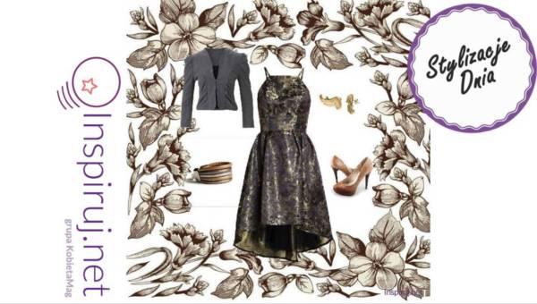 Propozycje dnia – stylizują nasze czytelniczki: wzorzyste wieczorowe suknie na Sylwestra