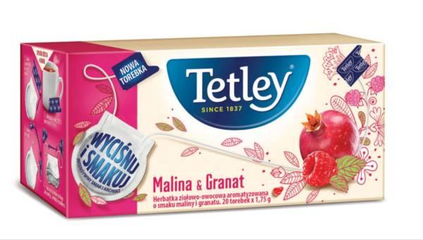"""Nowość: ziołowo-owocowe herbatki Tetley w torebkach """"Wyciśnij i Smakuj""""!"""