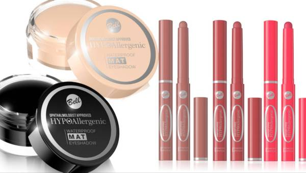 Bell HYPOAllergenic – nowości do makijażu oczu i ust: wodoodporne matowe cienie do powiek i pudrowe pomadki do ust