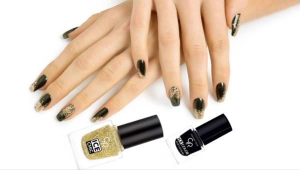 Paznokcie jak biżuteria – manicure z brokatowym wykończeniem od Golden Rose