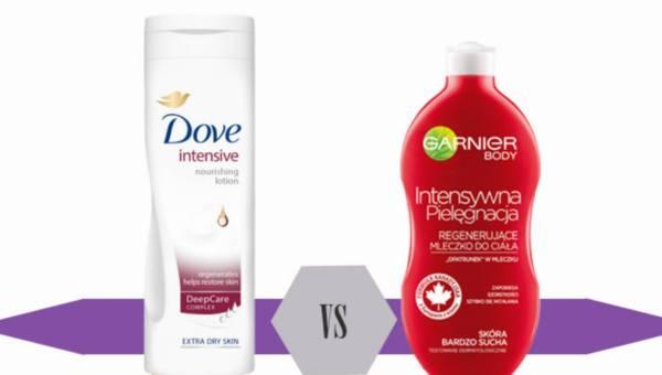 Bitwa na Kosmetyki: Dove Intensive Nourishment Body Lotion kontra Garnier Intensywna Pielęgnacja Bardzo Suchej Skóry