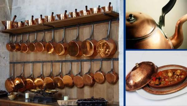 Naczynia miedziane – mercedes wśród naczyń kuchennych