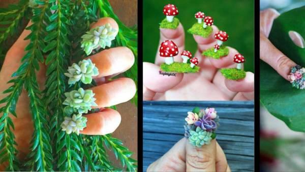 Ogród na paznokciach – zwariowany trend na wiosnę 2017