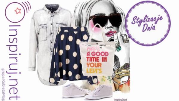 Stylizacje Dnia z inspiruj.net – spódnice trapezowe z modnym nadrukiem