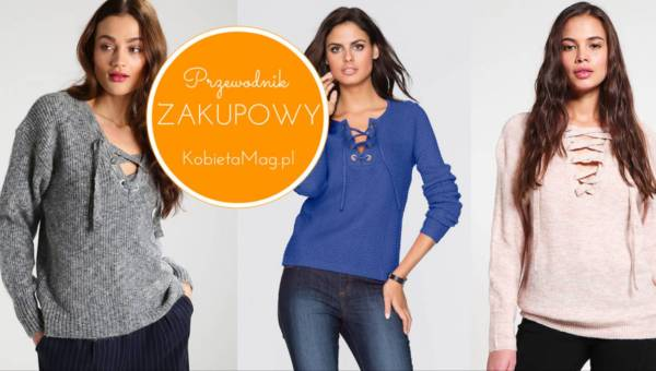 Przegląd zakupowy – zoom na sweter z wiązaniem