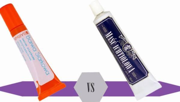 Bitwa na kosmetyki: środki przeciwtrądzikowe – Barwa Siarkowa, serum siarkowe antybakteryjne vs Apteczka Babuni, Maść ichtiolowa