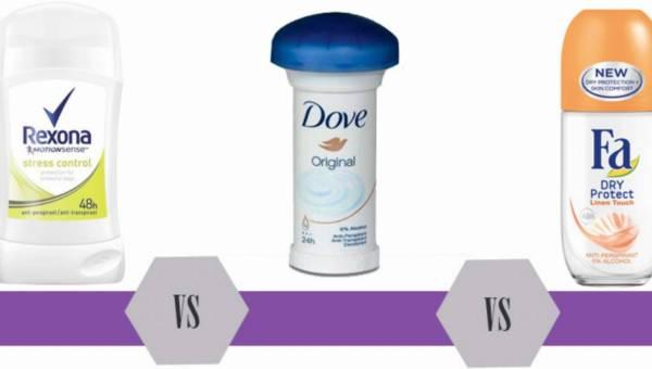 Bitwa na kosmetyki: antyperspiranty Rexona vs Dove vs Fa – 3 marki i 3 różne formy