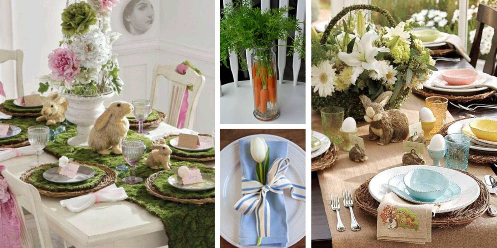 dekoracje stołu na Wielkanoc