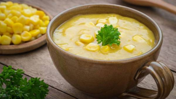 Zupa krem z kukurydzy z cynamonem