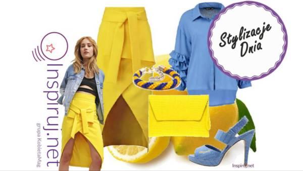 Stylizacje dnia z Inspiruj.net – Łączymy kolory w stylizacjach: żółty i niebieski