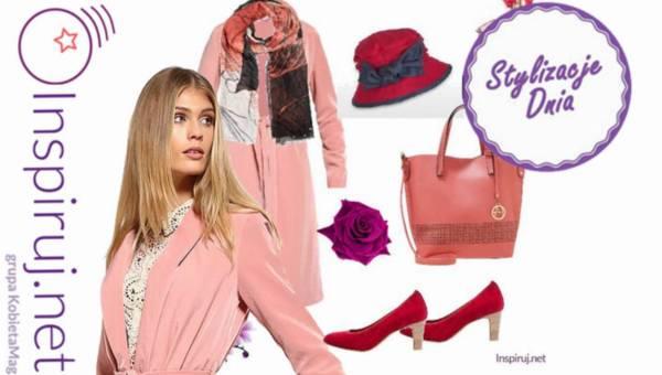 Stylizacje dnia z Inspiruj.net – Wiosenne płaszcze w kolorze rose