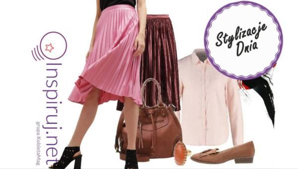 Modne stylizacje dnia z Inspiruj.net – plisowana spódnica wciąż na topie
