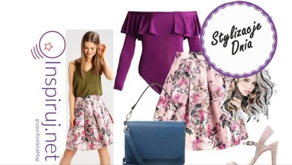Stylizacje dnia z Inspiruj.net – Wiosenne spódniczki trapezowe przed kolana