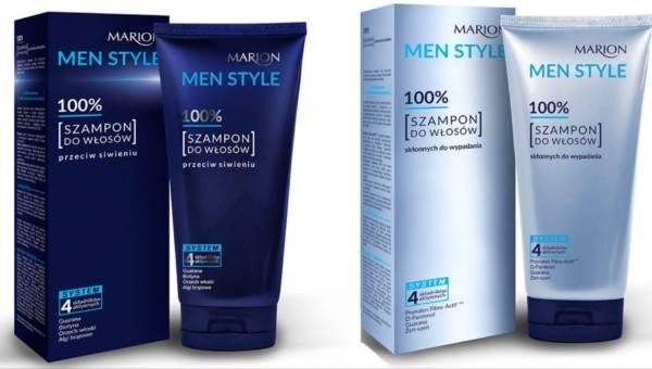 Nowość: szampony dla mężczyzn Marion przeciw siwieniu i wypadaniu włosów