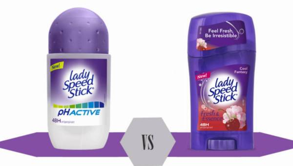Bitwa na kosmetyki: Lady Speed Stick, pH Active, antyperspirant w kulce vs Lady Speed Stick, Fresh&Essence, antyperspirant w sztyfcie