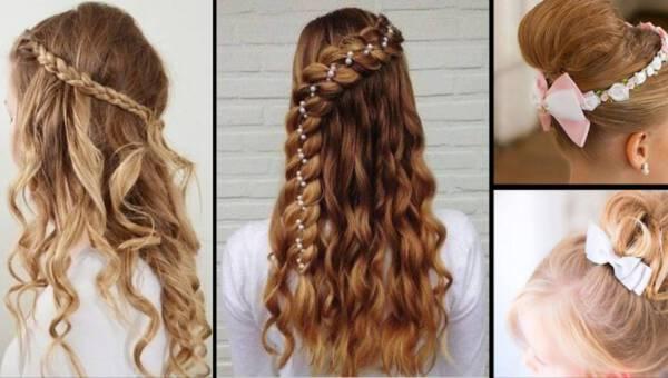 Najpiękniejsze fryzury komunijne 2017 dla dziewczynek – inspiracje