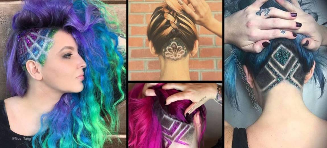 Nowy gorący trend tej wiosny – glitter undercut, czyli brokatowe wzorki pod włosami!