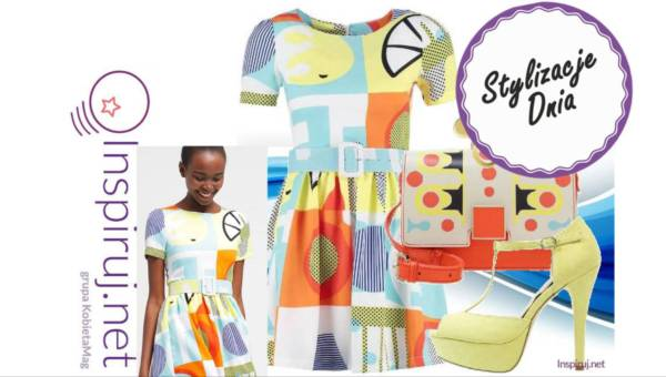 Stylizacje dnia z Inspiruj.net – Sukienki w geometryczne wzory