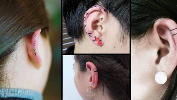 Dyskretne tatuaże na uszach – nowy trend na wiosnę i lato 2017