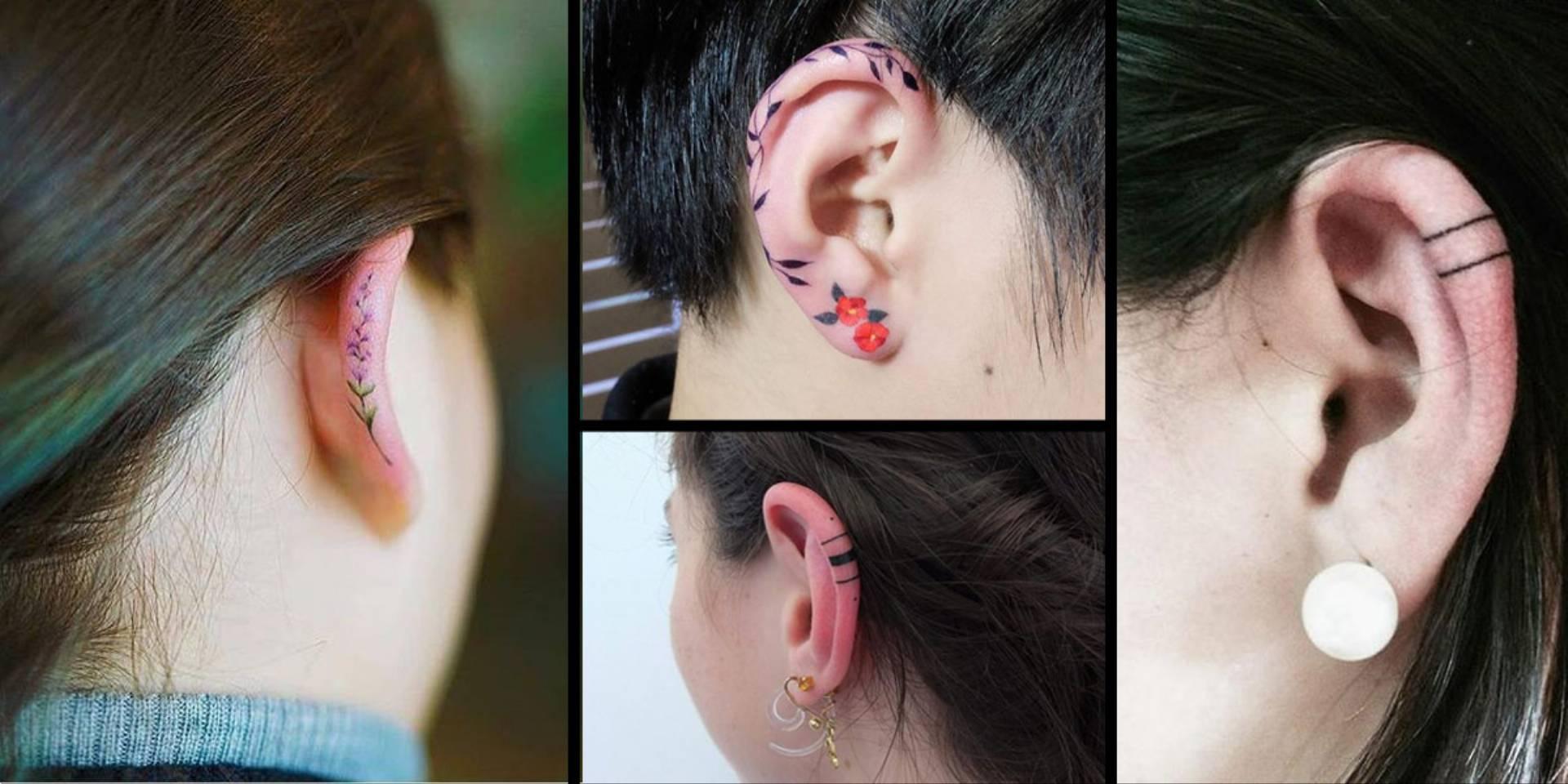 Dyskretne Tatuaże Na Uszach Pomysły I Wzory Na Tatuaże