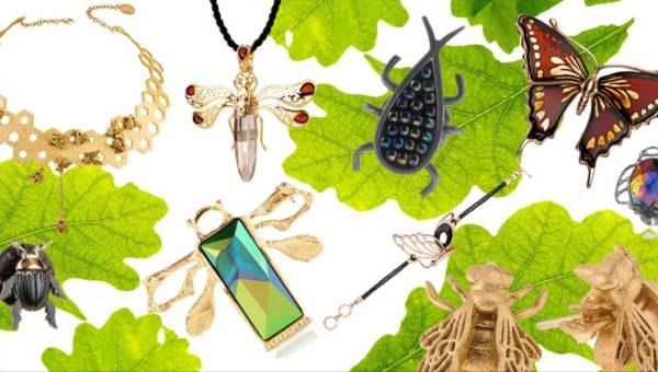 Biżuteria z owadami – niech tej wiosny na Twojej szyi przysiądą złote ważki, pszczoły i motyle!