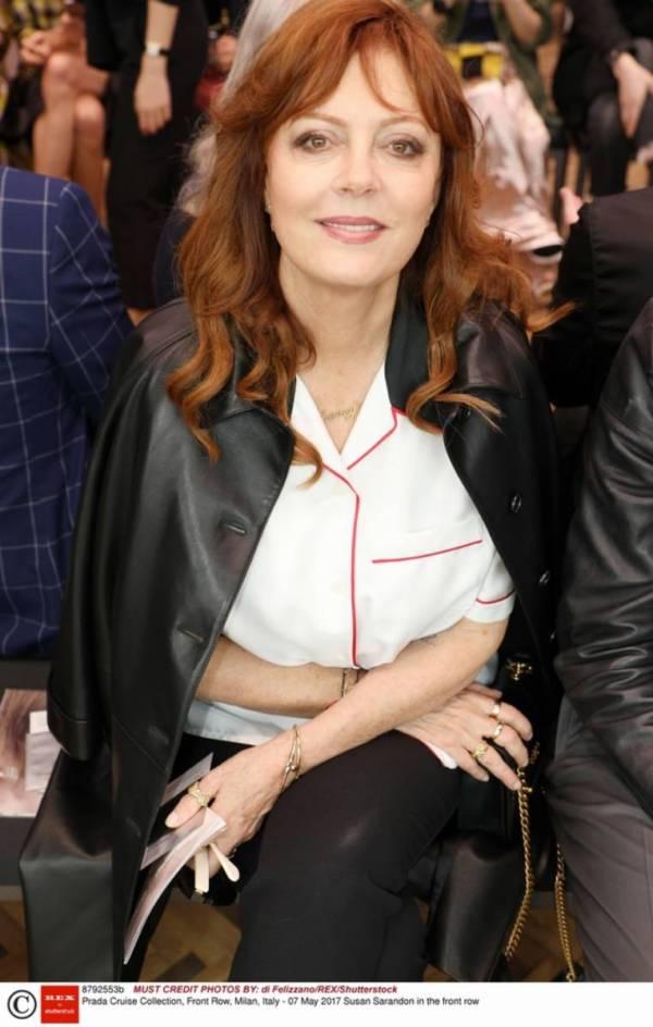 makijaż odmładzający opadające powieki Susan Sarandon