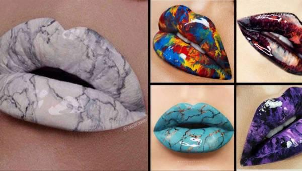 Marmurowe usta – niezwykły wiosenny trend, który opanował Instagram