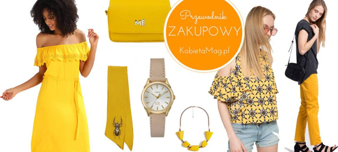 Podaruj sobie trochę słońca, czyli żółte ubrania i akcesoria na lato!