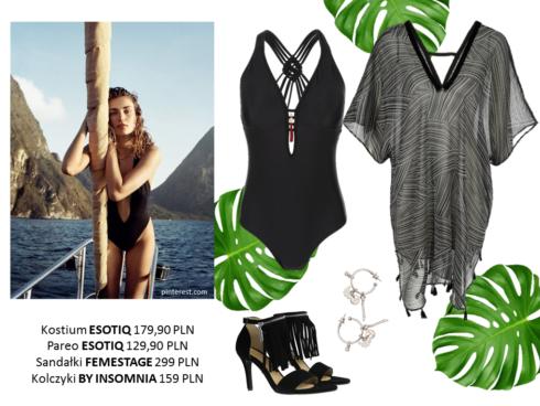 modne stylizacje na plażę