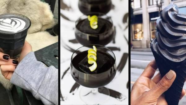 Lody, latte i koktajl w kolorze smoły? Nadeszła moda na czarne jedzenie!