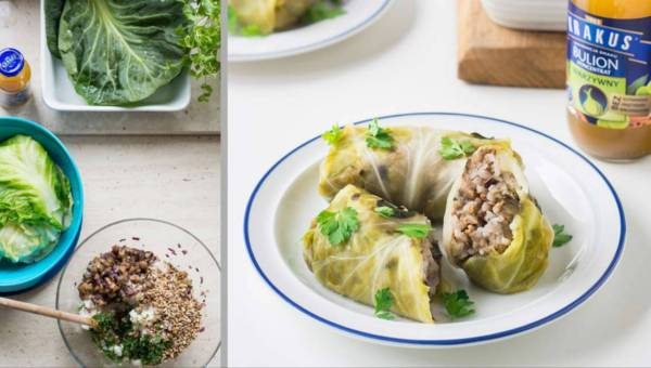 Dla wegetarian: Gołąbki z bakłażanem
