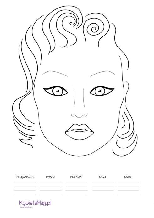 FACE CHARTS - KARTY DO MAKIJAŻU