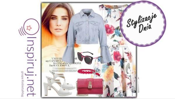 Stylizacje dnia z Inspiruj.net – Letnia sukienka + jeansowa kurtka = zestaw idealny