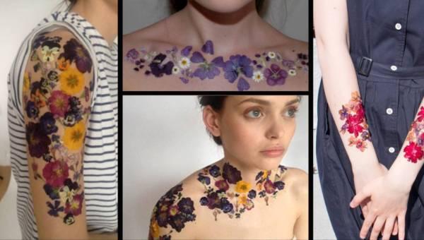 Oryginalne tatuaże z suszonych kwiatów – idealne na lato!