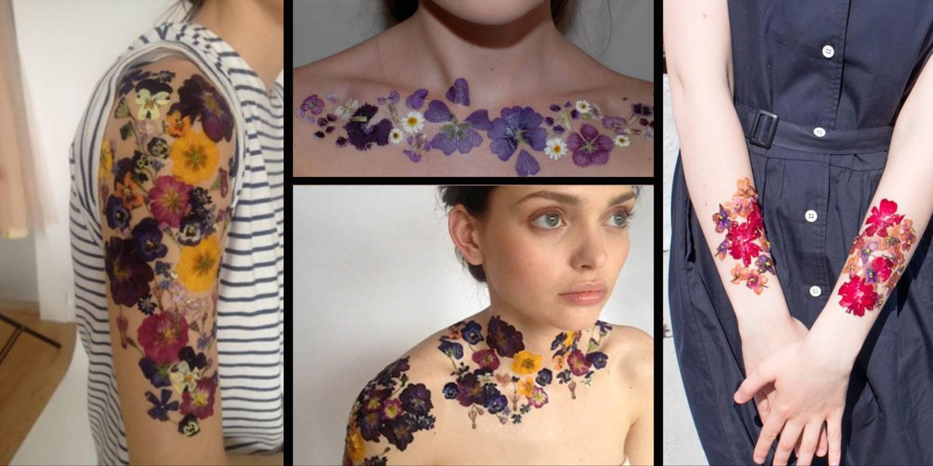 Oryginalne Tatuaże Z Suszonych Kwiatów Idealne Na Lato