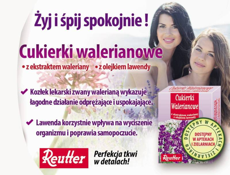 uspokajające cukierki walerianowe Reutter