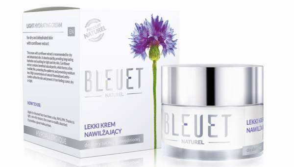 Lekki krem nawilżający od marki Bleuet Naturel z ekstraktem z chabra