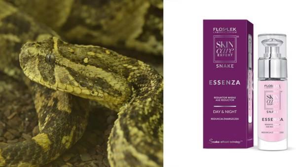 Kosmetyki Floslek zawierające jad węża