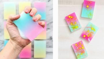 Wakacyjne DIY: jak zrobić mydło z kolorowym gradientem?