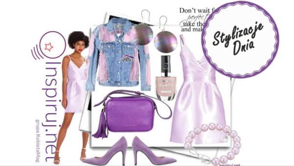 Modne outfity: Lawendowo – fiołkowe lato