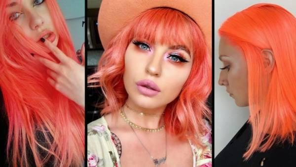Nowy letni trend w koloryzacji włosów – neon peach!