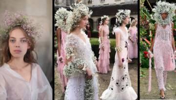 Niezwykły pokaz mody Rodarte – zobacz modelki w kwiatowych koronach!