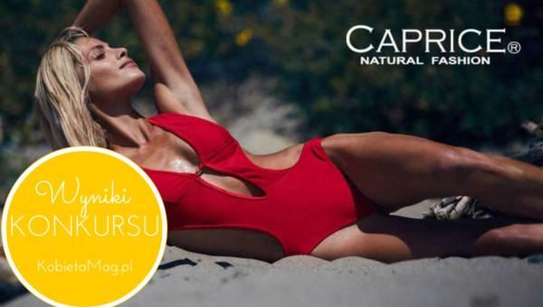 Wyniki konkursu: Odpowiedz na pytanie i wygraj zmysłowy strój kąpielowy CAPRICE na lato