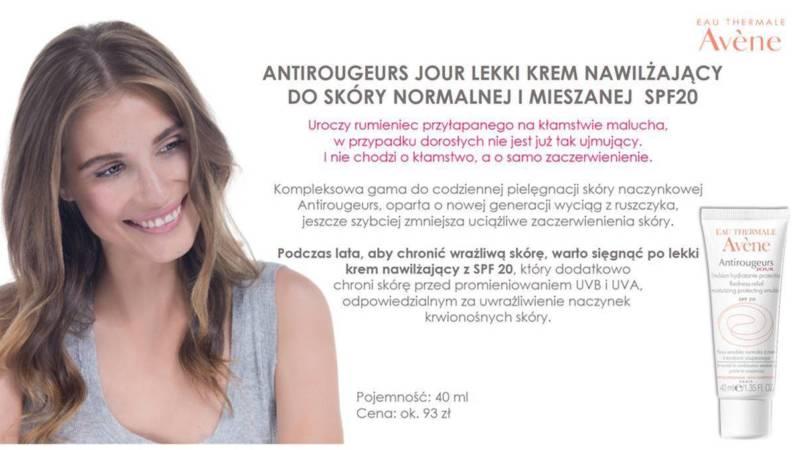 Antirougeurs Jour, lekki krem nawilżający odAVÈNE